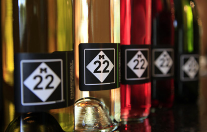 M22 & Love Michigan Clothing & Accessories. Wine Tasting Room offering 10 locally produced wines for tasting & by the bottle.